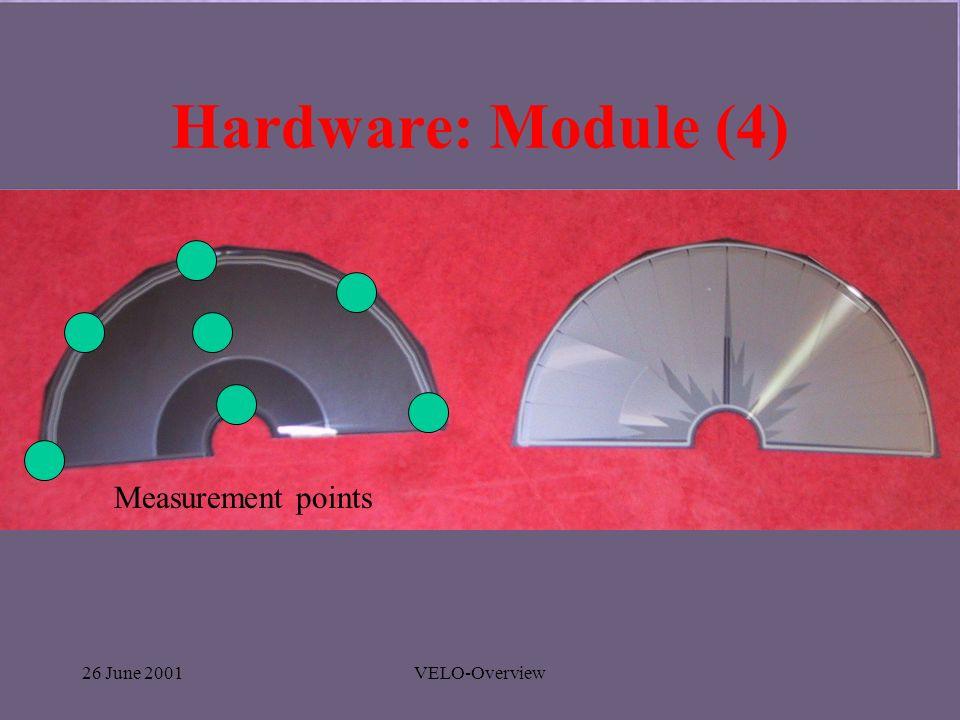 26 June 2001VELO-Overview Hardware: Module (4) Measurement points
