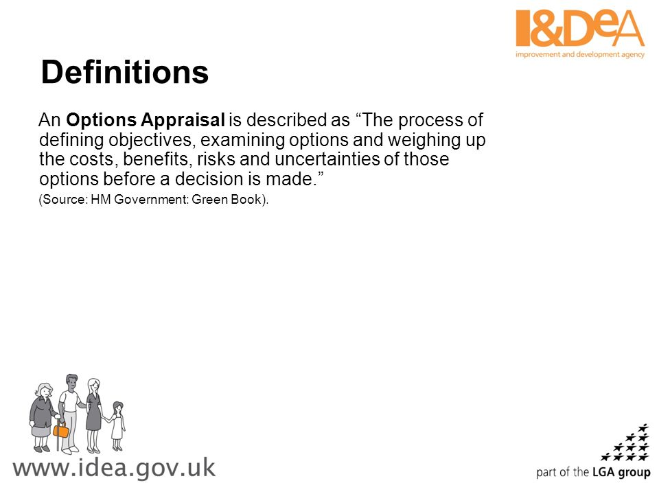 Definitions A Business Case presents clearly information necessary to support a series of decisions.