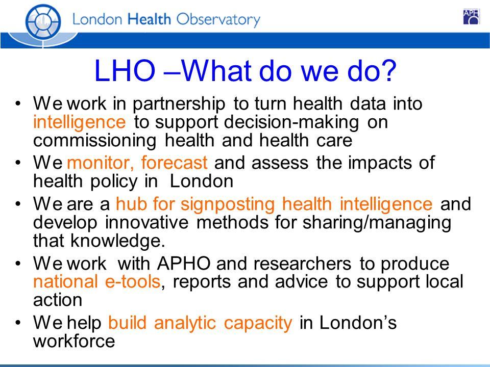 LHO –What do we do.