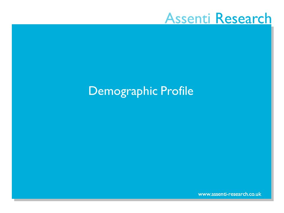www.assenti-research.co.uk Demographic Profile
