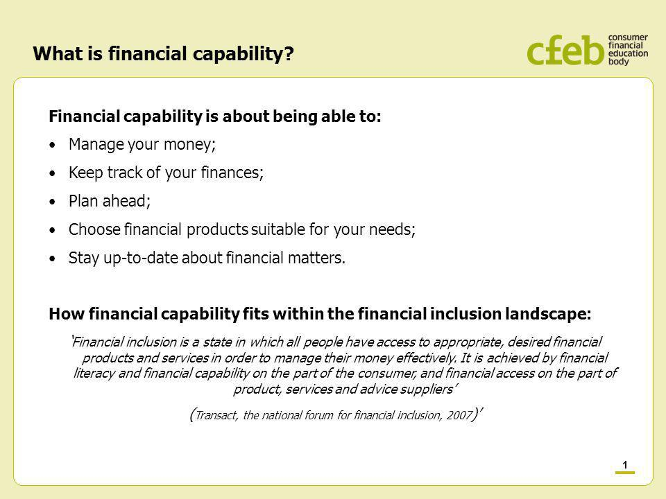 1 What is financial capability.