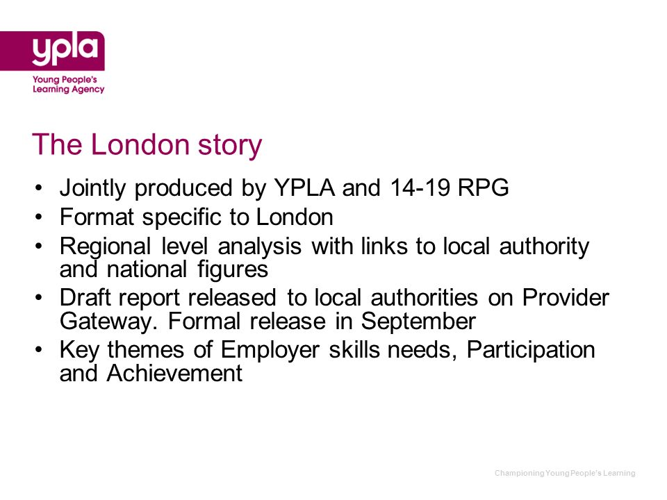 Championing Young Peoples Learning SUMMARY OF FINDINGS