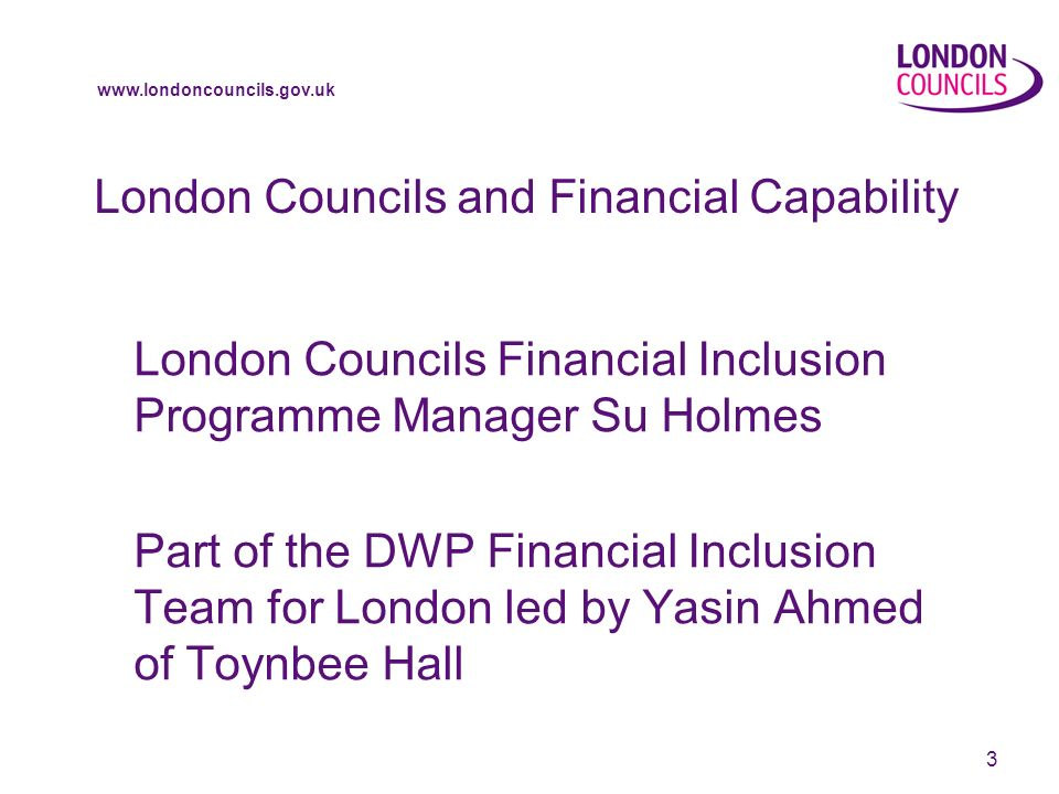 www.londoncouncils.gov.uk 14 Programme for Today Briefing Round Table Discussions Feedback Plenary