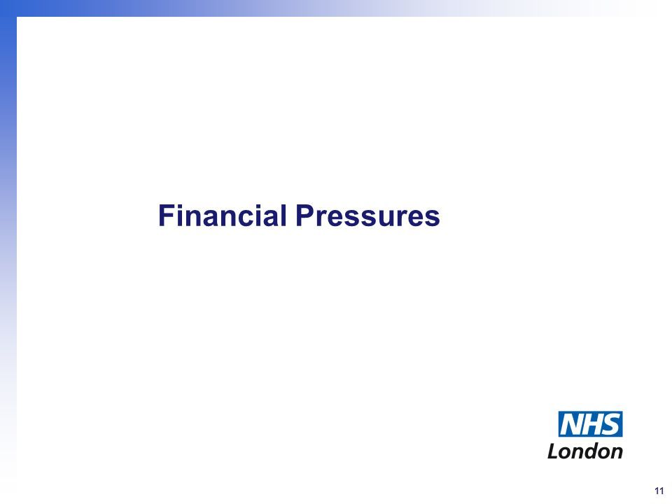 11 Financial Pressures