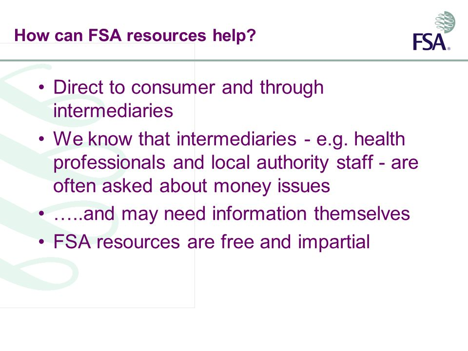 How can FSA resources help.