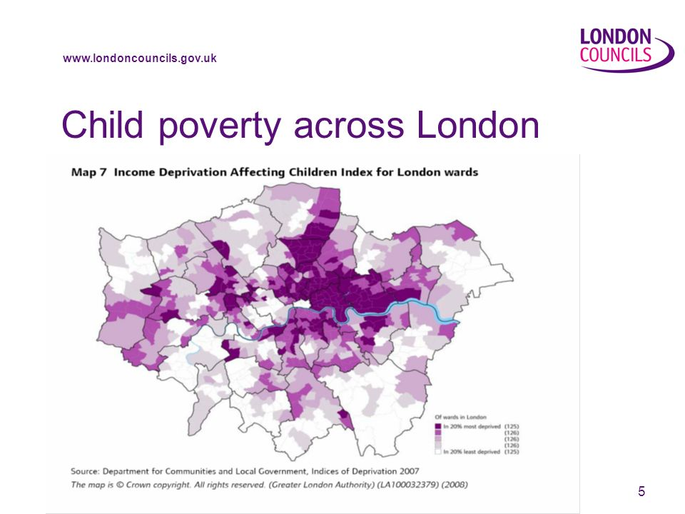 www.londoncouncils.gov.uk 5 Child poverty across London