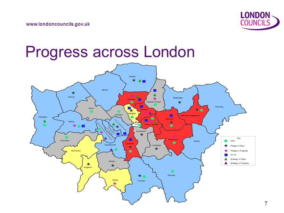 www.londoncouncils.gov.uk 7 Progress across London