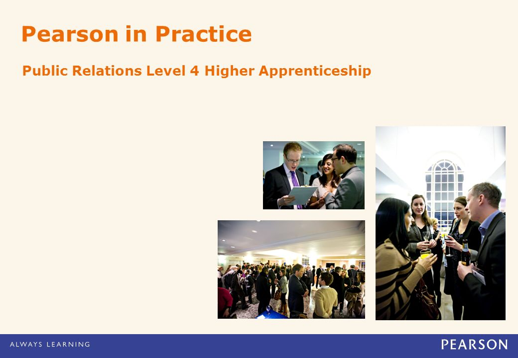Pearson in Practice Public Relations Level 4 Higher Apprenticeship