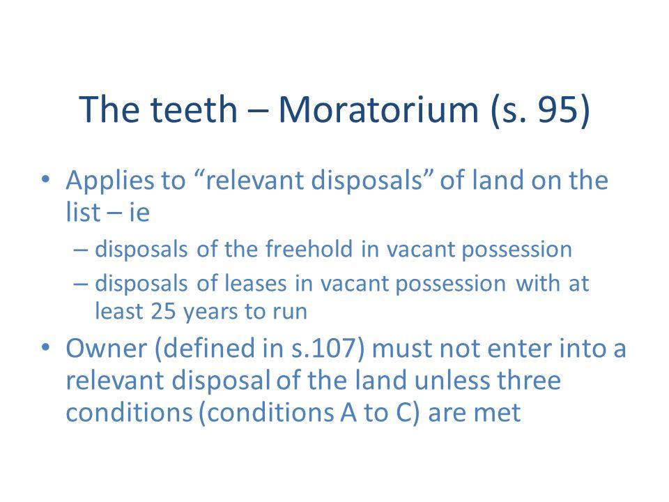 The teeth – Moratorium (s.