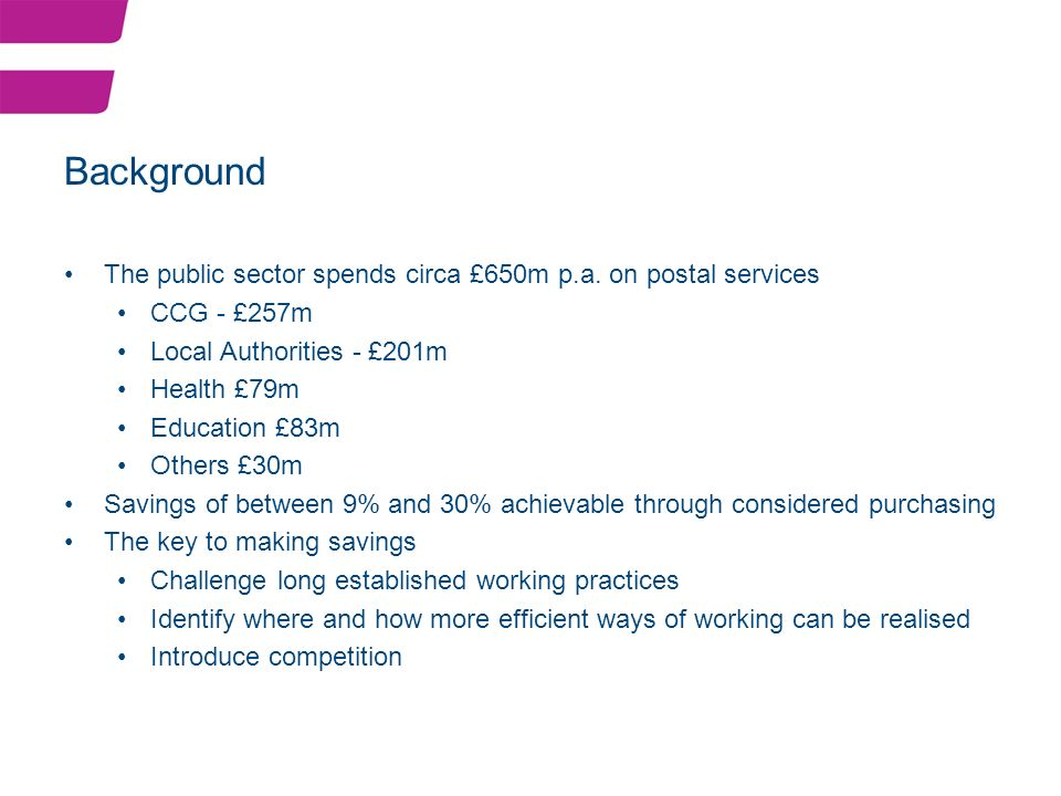The public sector spends circa £650m p.a.
