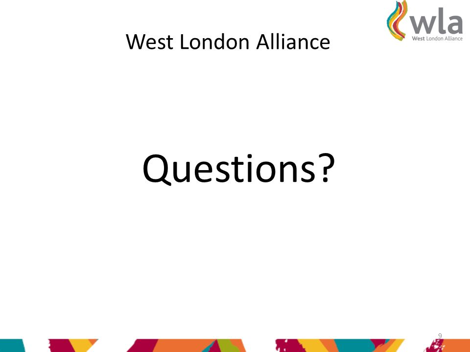 West London Alliance Questions 9