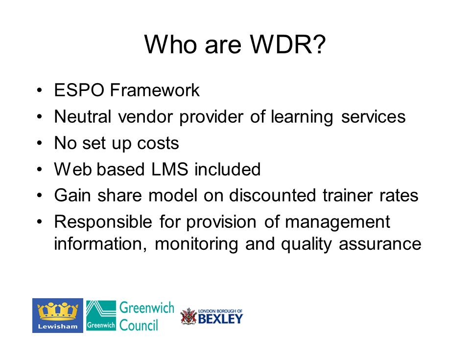 Who are WDR.