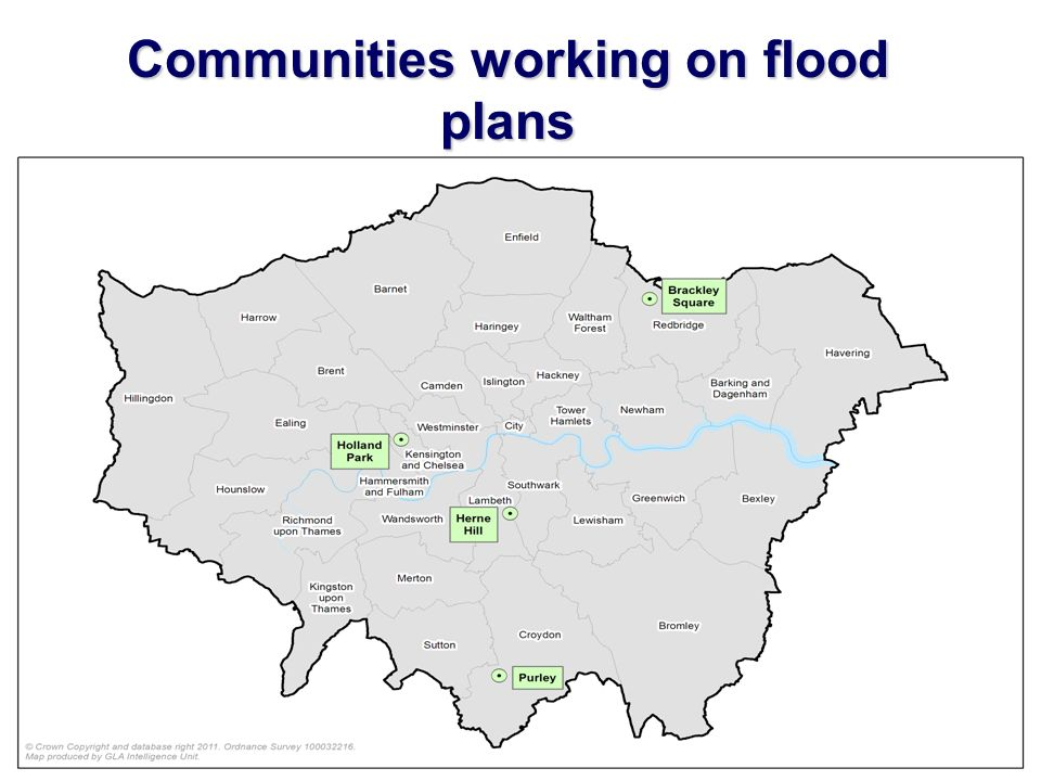 Communities working on flood plans