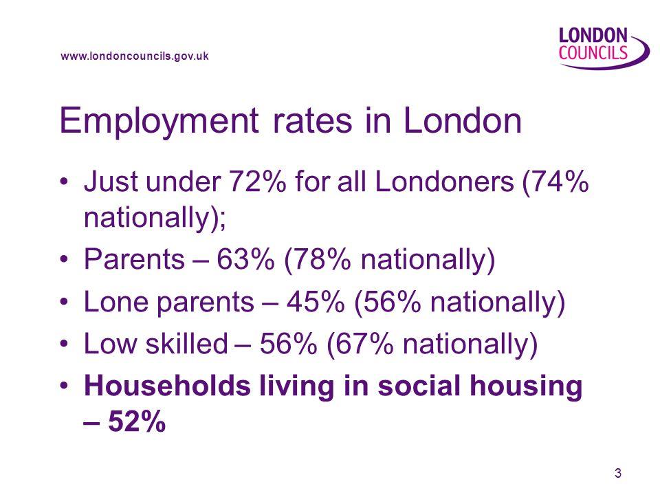 www.londoncouncils.gov.uk 4 Worklessness in social housing