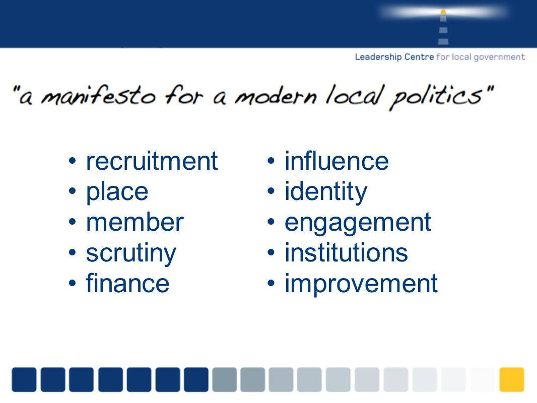 recruitment place member scrutiny finance influence identity engagement institutions improvement