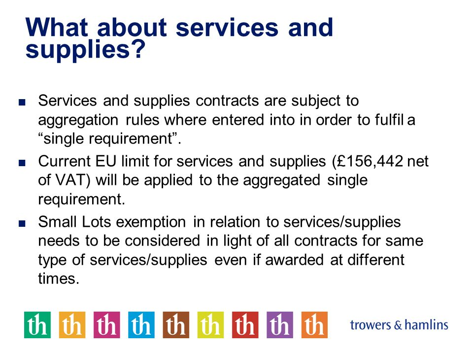 What about services and supplies.