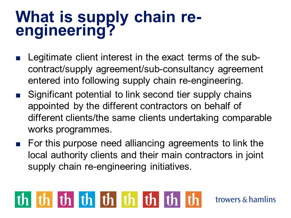 What is supply chain re- engineering.
