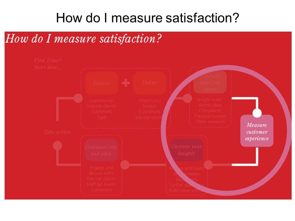 How do I measure satisfaction?