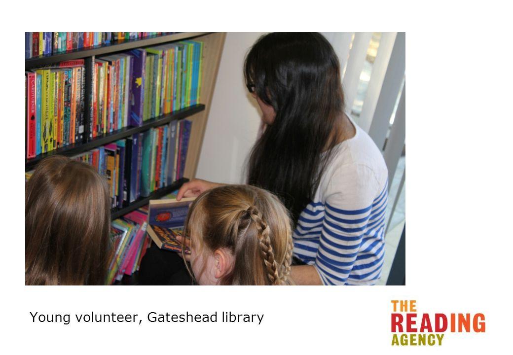 Young volunteer, Gateshead library