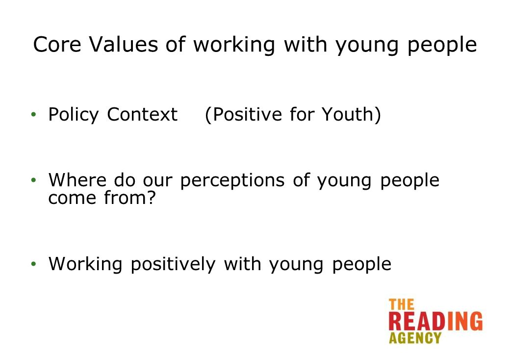 Creating a young person –friendly environment What are the barriers young people face in getting access to the library.