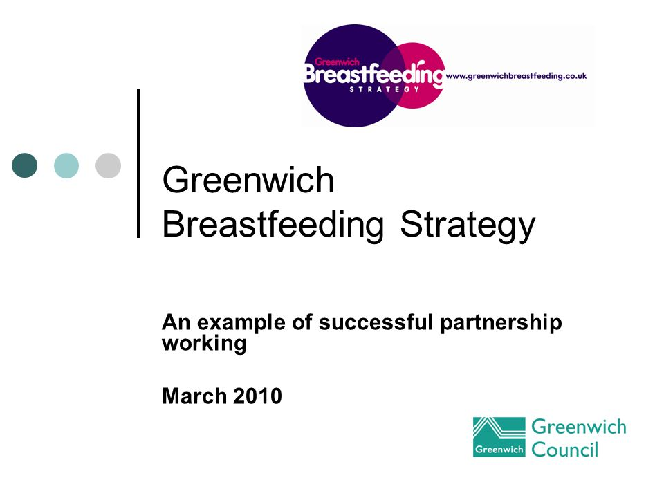 Greenwich Breastfeeding Strategy An example of successful partnership working March 2010