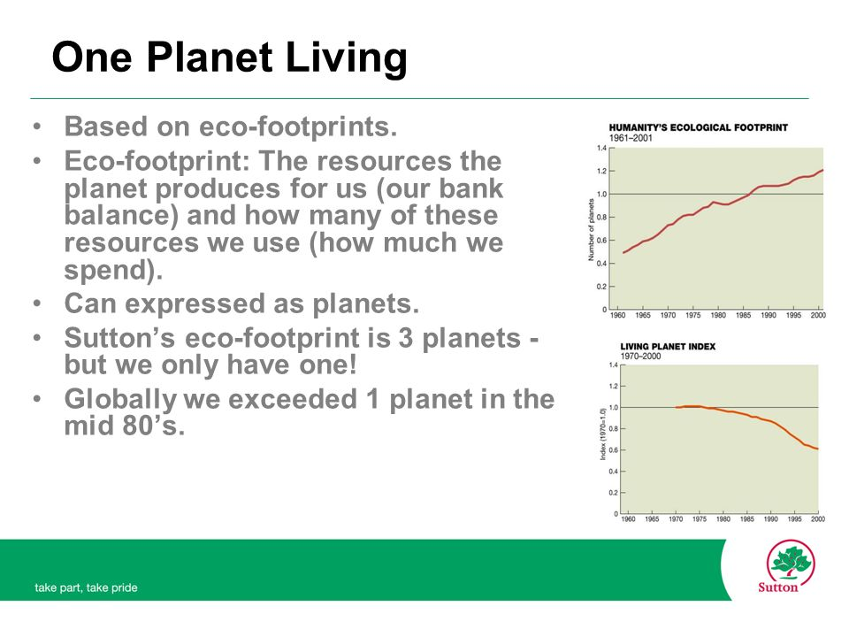 One Planet Living Based on eco-footprints.