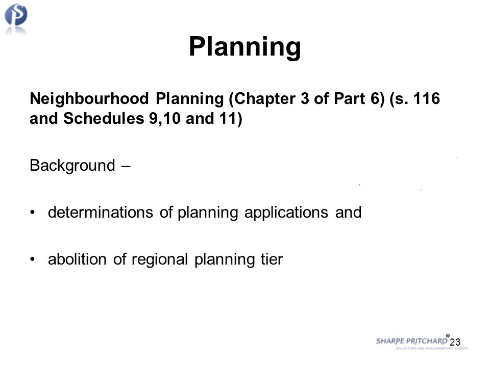 Planning Neighbourhood Planning (Chapter 3 of Part 6) (s.