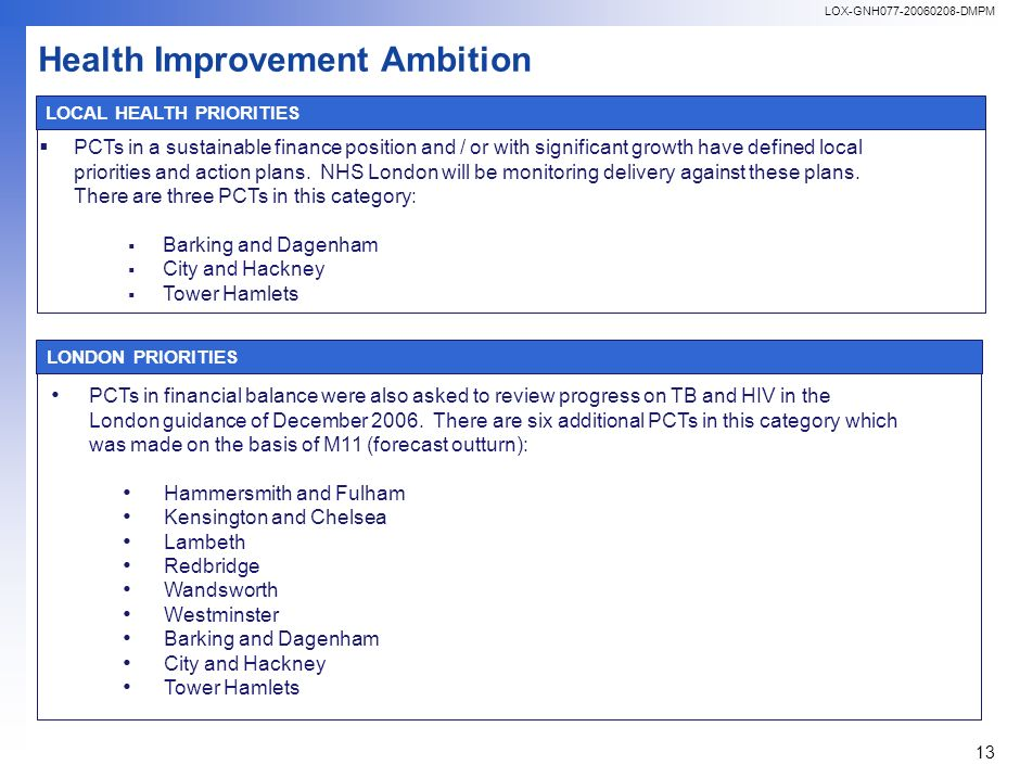 LOX-GNH077-20060208-DMPM 13 PCTs in a sustainable finance position and / or with significant growth have defined local priorities and action plans.