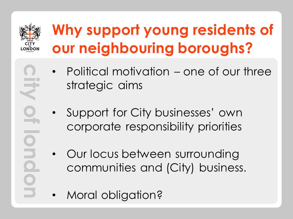 Why support young residents of our neighbouring boroughs.