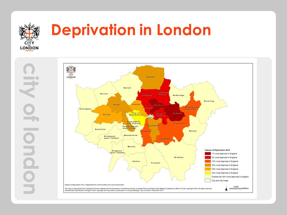 Deprivation in London