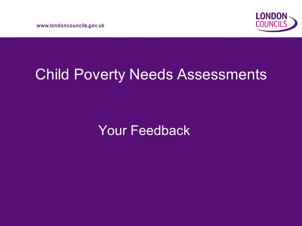 Child Poverty Needs Assessments Your Feedback