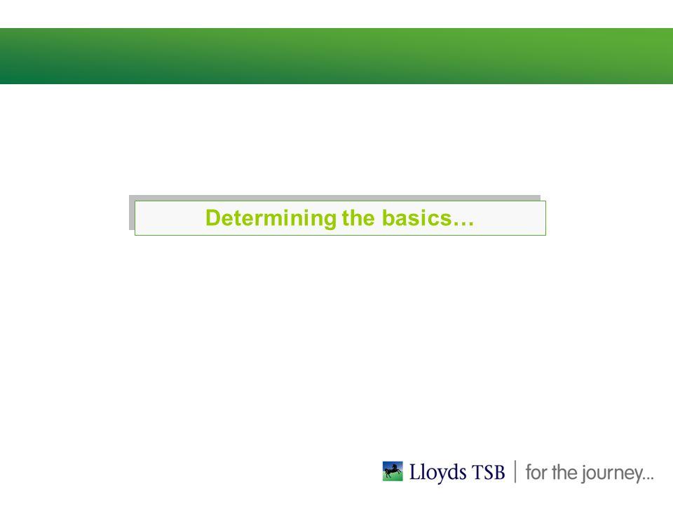 Determining the basics…