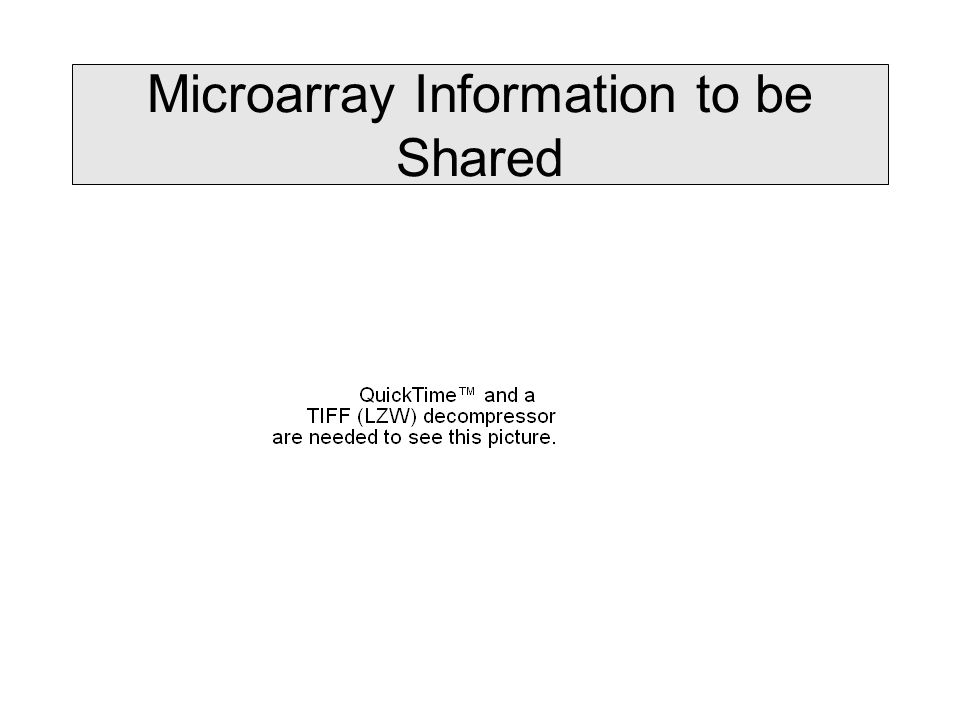 Microarray Information to be Shared