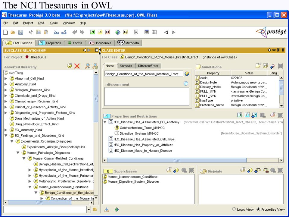 The NCI Thesaurus in OWL