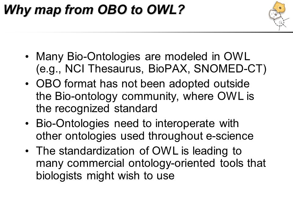 Why map from OBO to OWL.