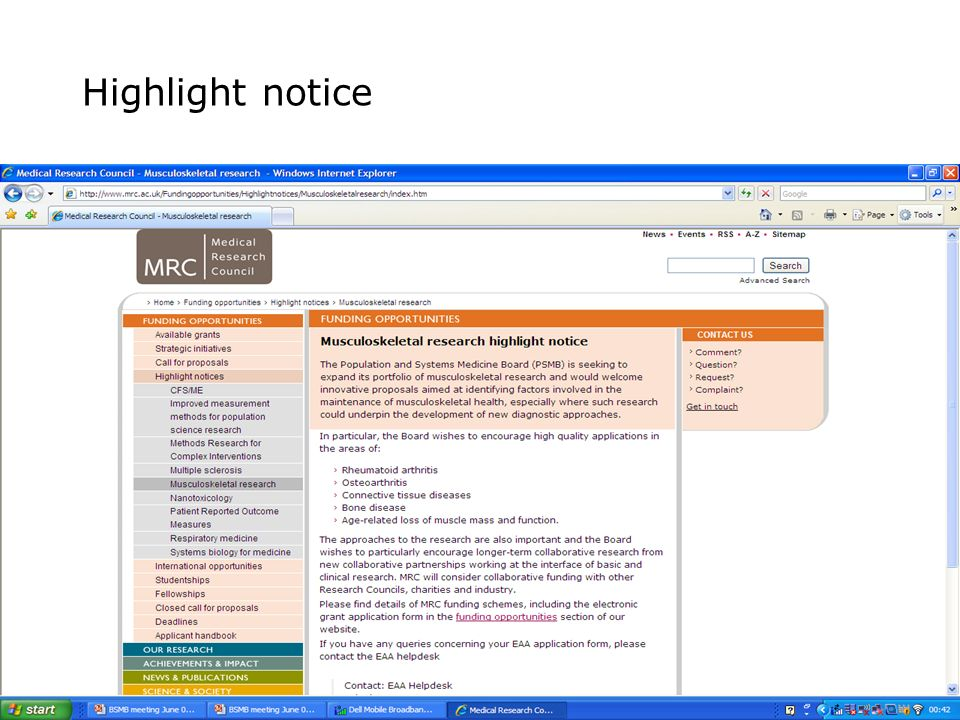 Highlight notice