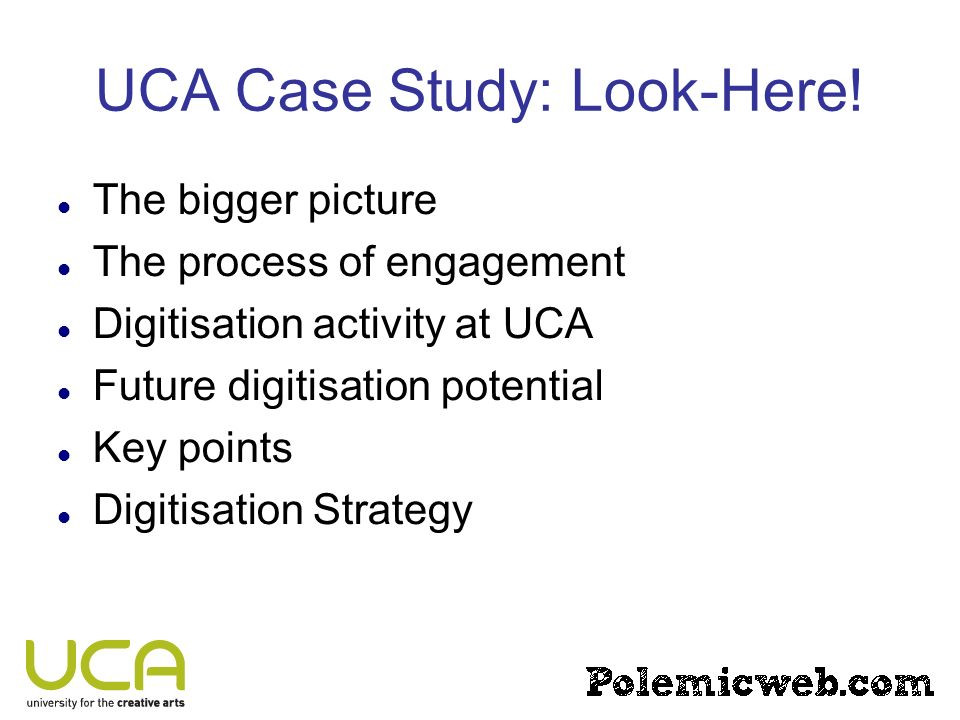 UCA Case Study: Look-Here.