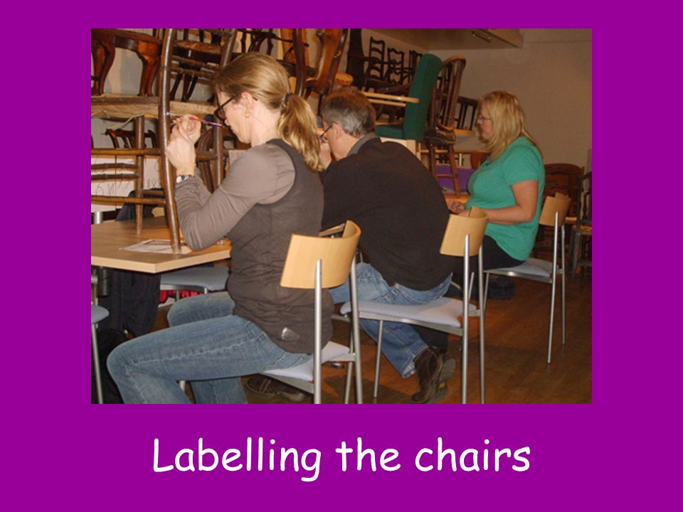 Labelling the chairs