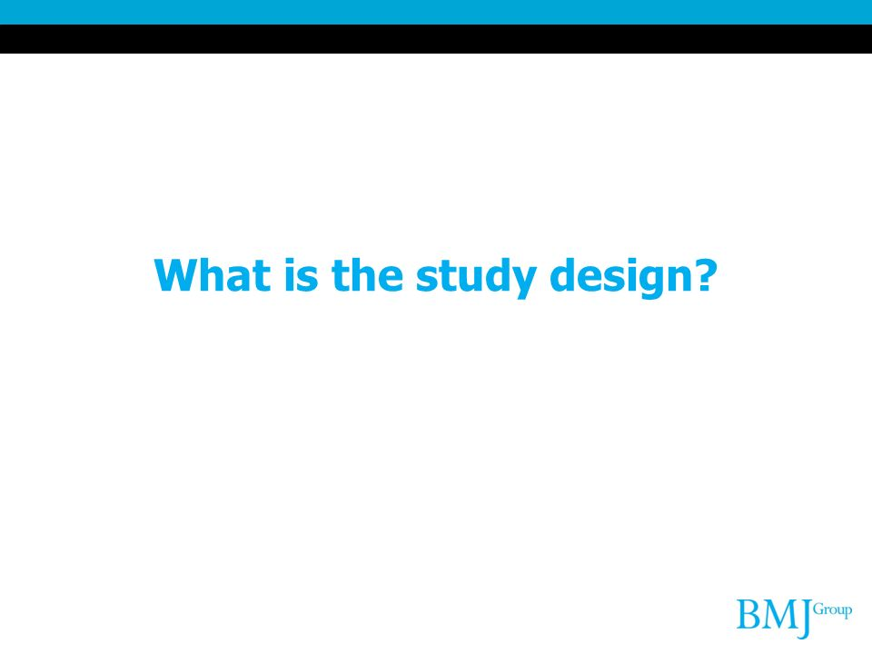 What is the study design