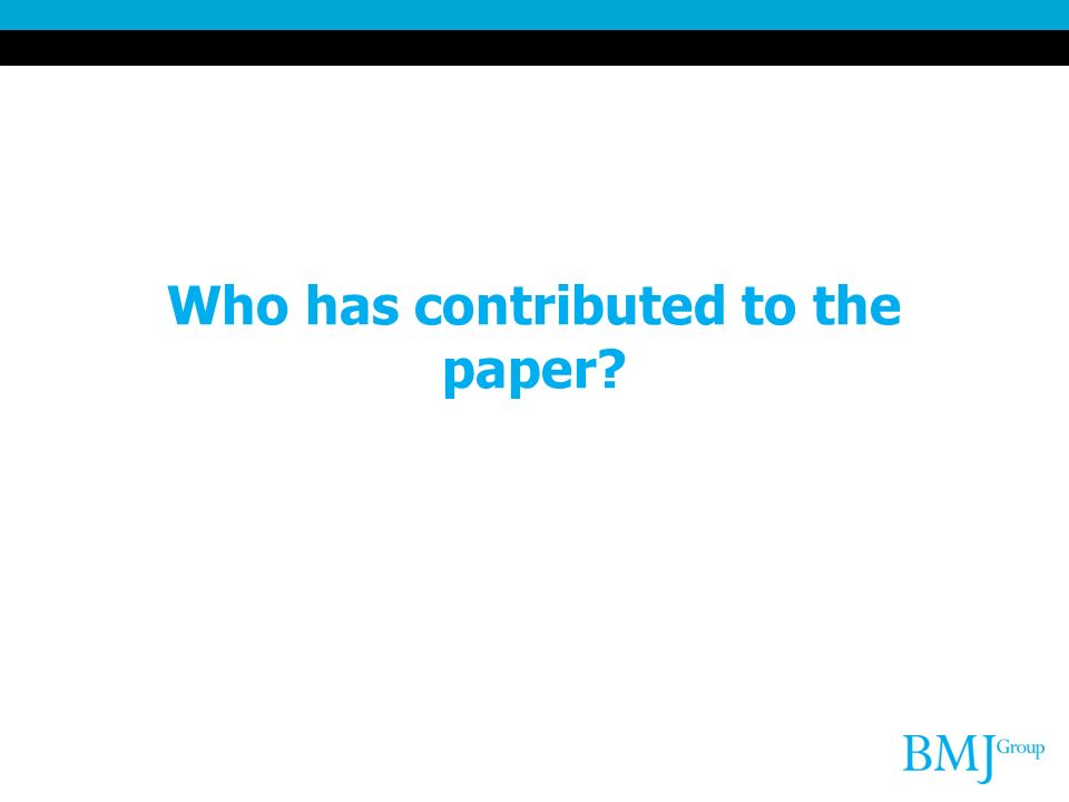 Who has contributed to the paper