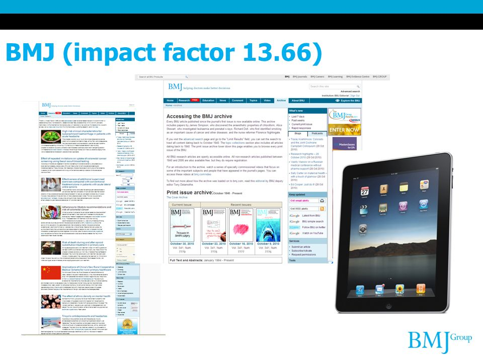 BMJ (impact factor 13.66)