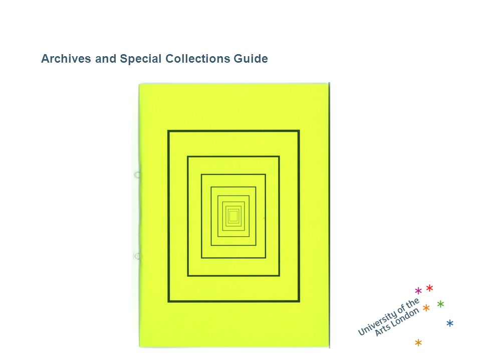 Archives and Special Collections Guide