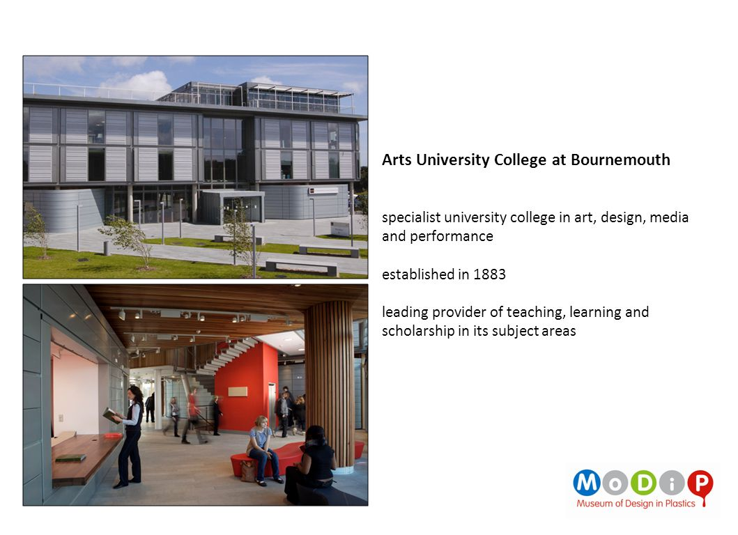 Arts University College at Bournemouth specialist university college in art, design, media and performance established in 1883 leading provider of tea