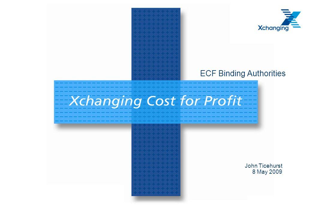 ECF Binding Authorities John Ticehurst 8 May 2009