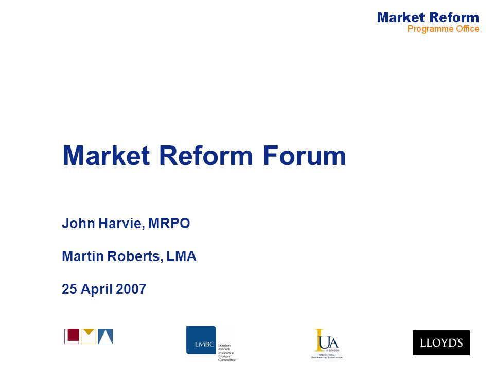 Market Reform Page 2 Market Reform Update John Harvie –Progress since last forum –Contract certainty –ECF and IMR –Other projects Martin Roberts, Mike Reidie –Documentation and contract checking