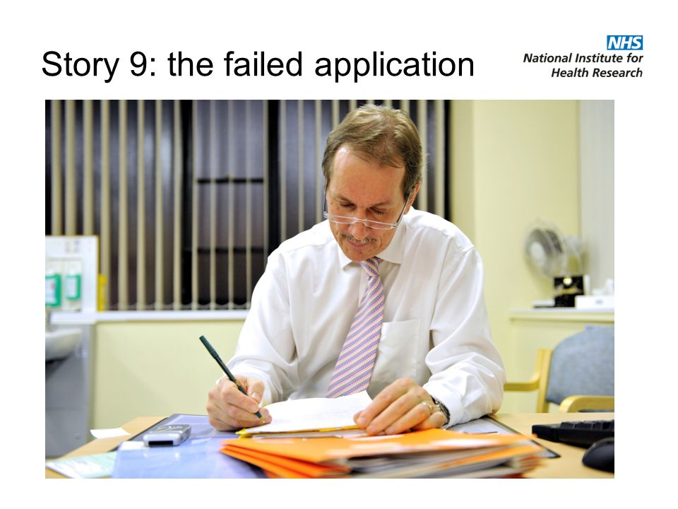 Story 9: the failed application