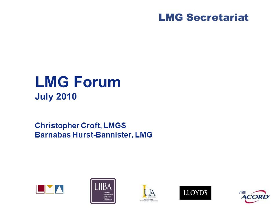 LMG Forum 2010 At the forum