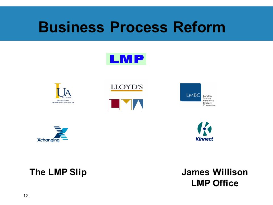 12 Business Process Reform The LMP SlipJames Willison LMP Office