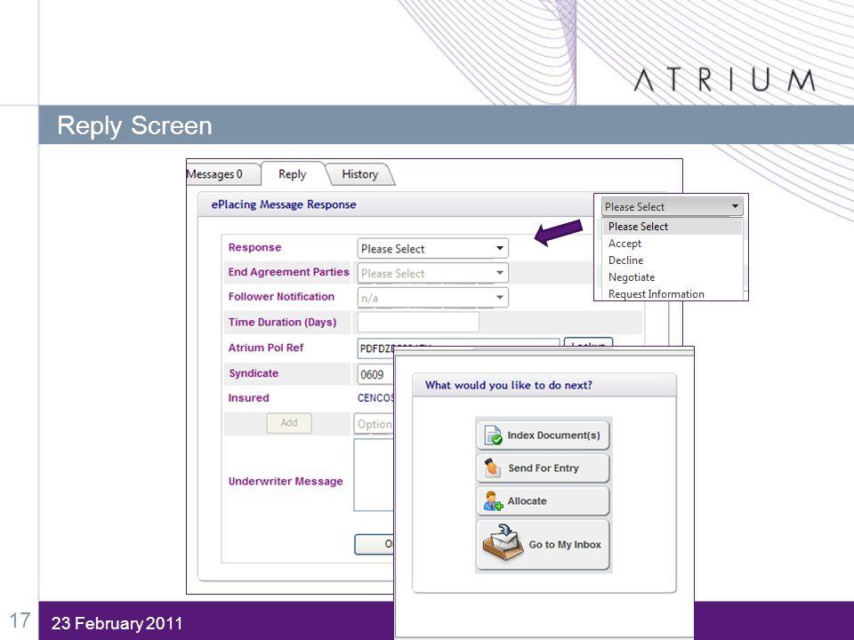 23 February 2011 Reply Screen 17