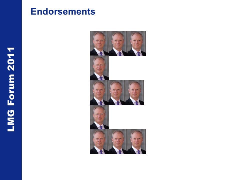 LMG Forum 2011 Endorsements